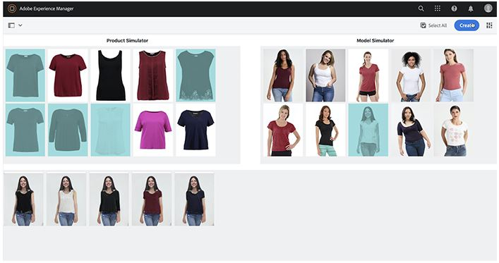 """Project Clothes Swap"" in Adobe Experience Manager.Introduces a new way to pick Outfits in eCommerce with AI."