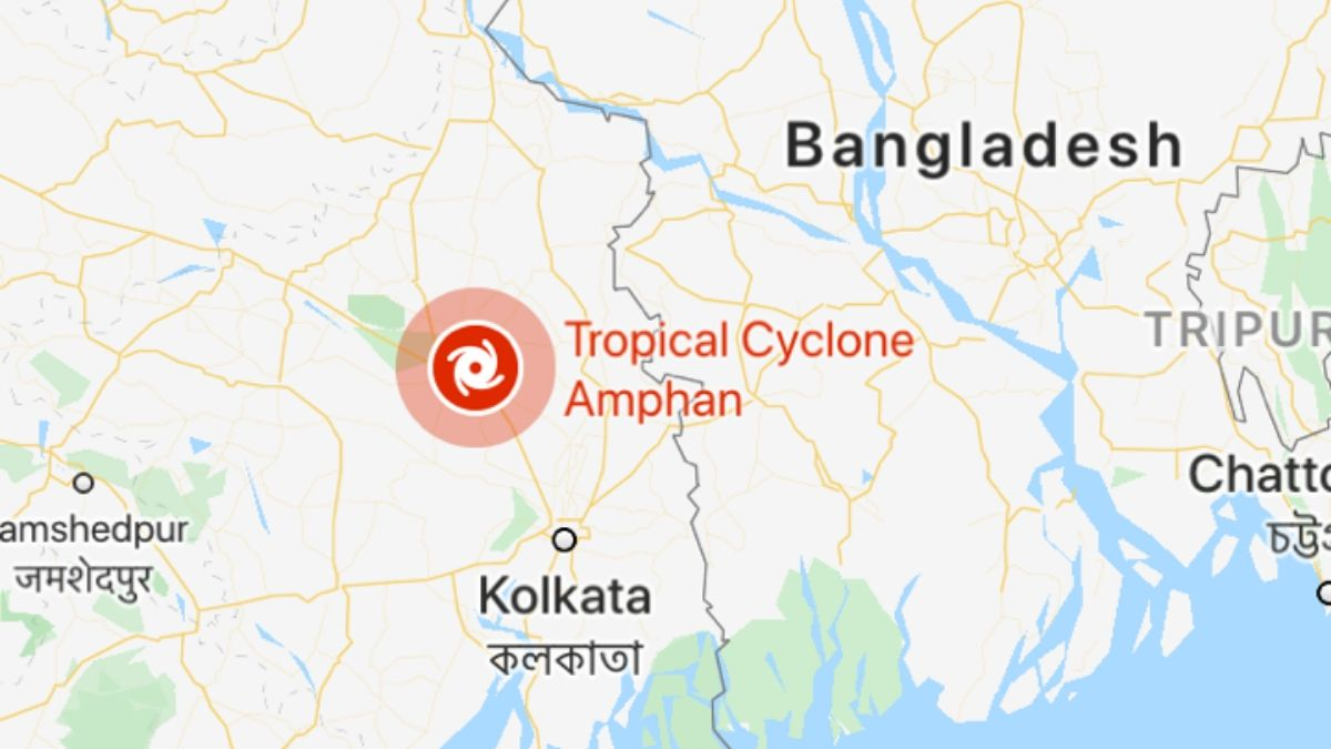 Cyclone amphan in west bengal and odisha
