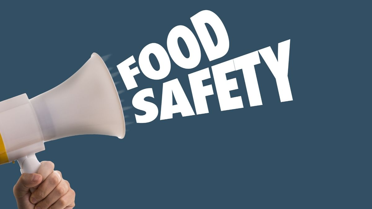 Food Safety In A Blue Background