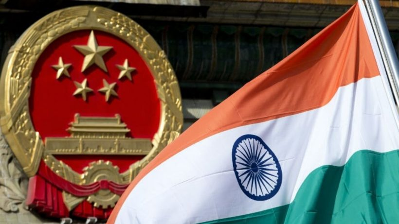 Flag Of India and China