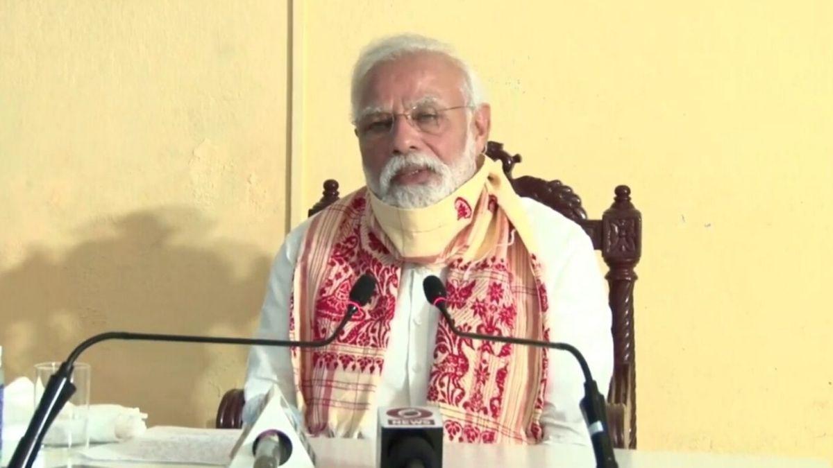 A Picture Of Prime Minister Narendra Modi