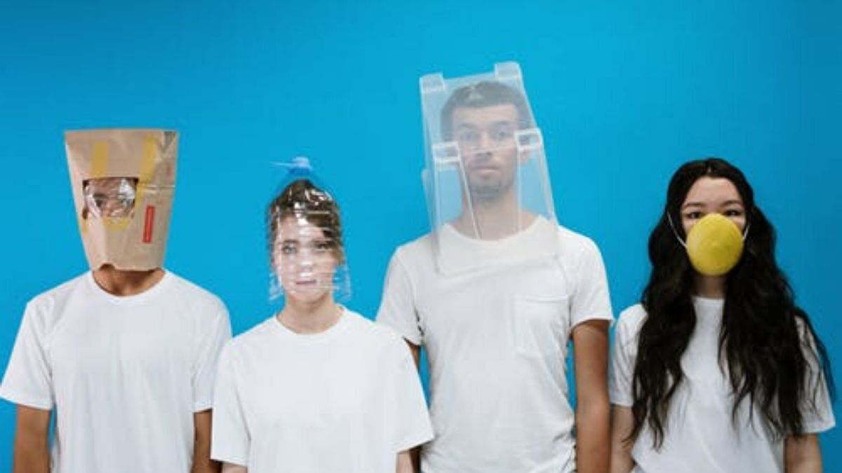 Four People Covered Their Faces