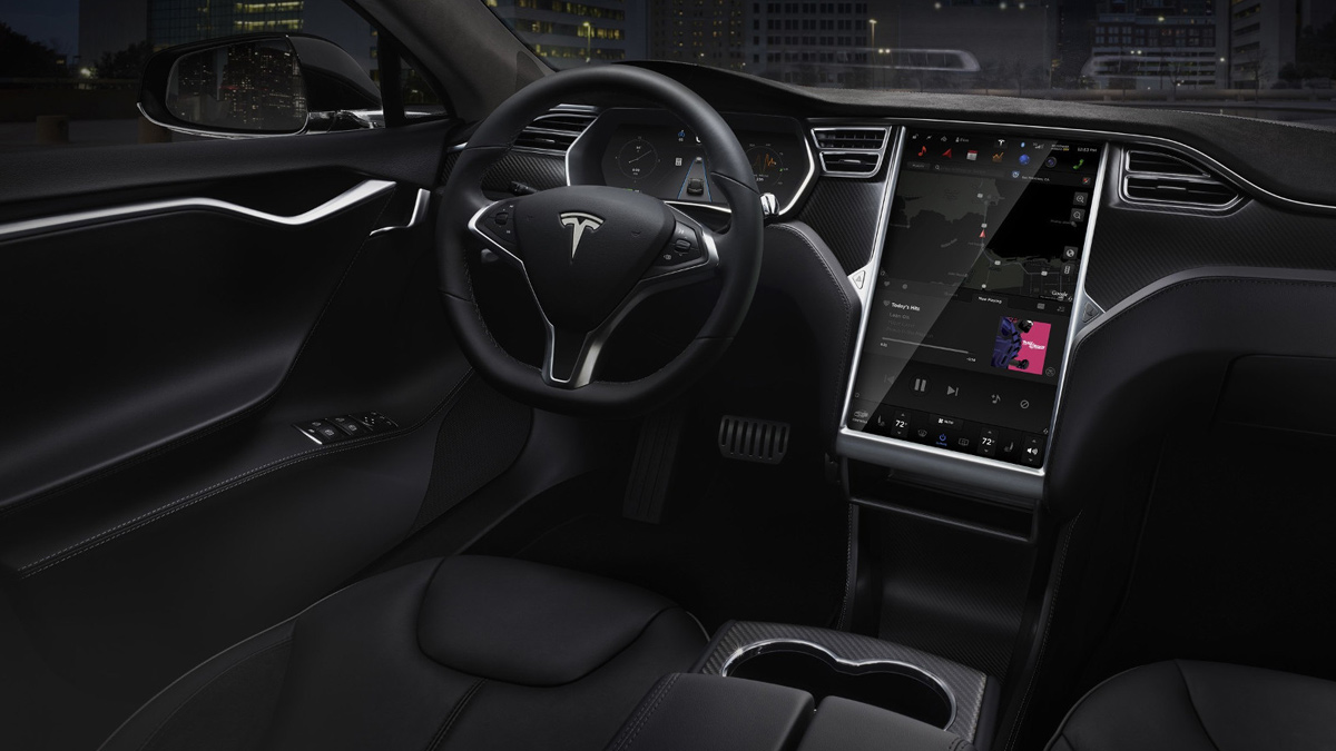 The Interior Of Tesla Car