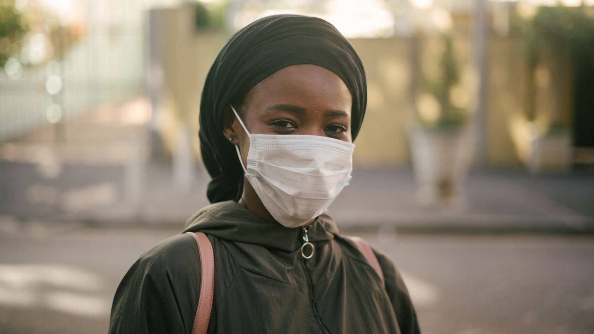 A Girl Wearing Mask