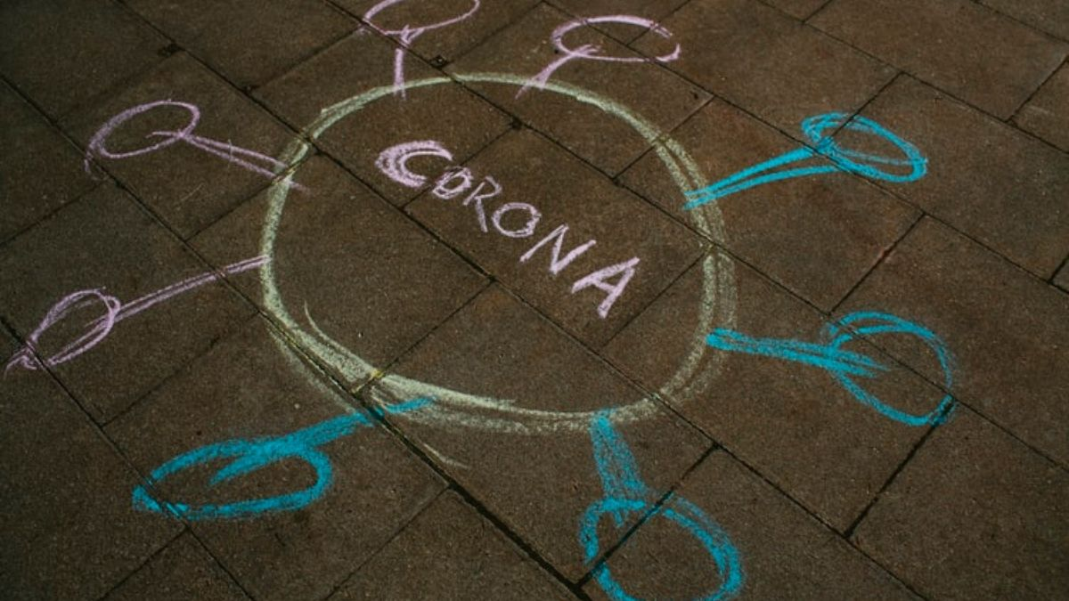 Coronavirus Written With Chalk