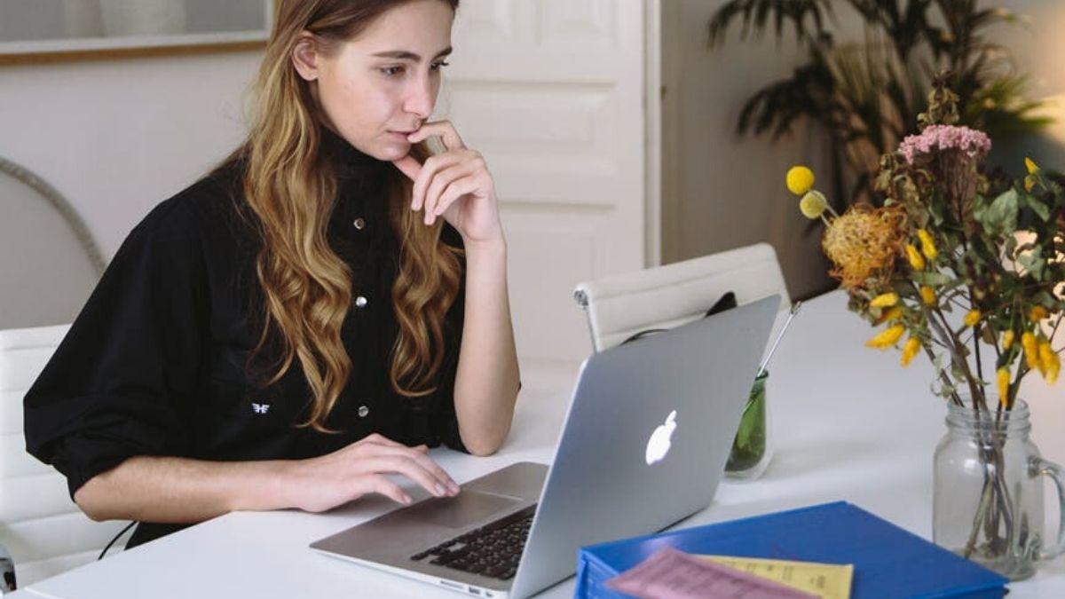 Girl Watching Laptop
