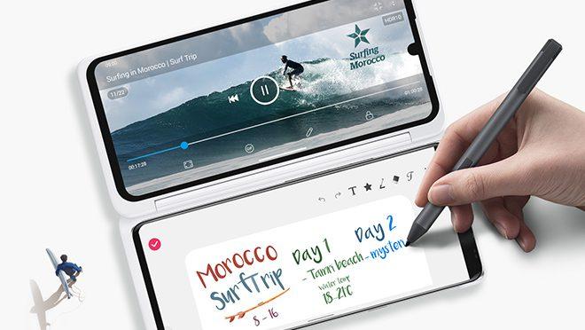 LG Velvet Smartphone With Pen
