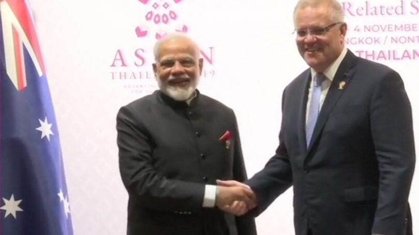 PM Modi and Scott Morrison