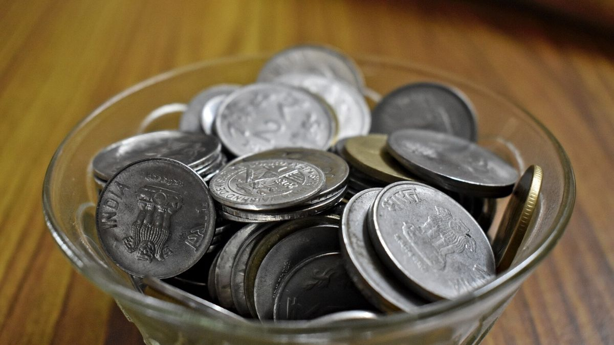 Rupee Currency In The Bowl