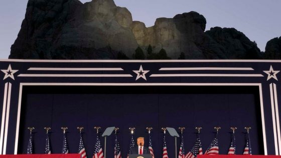Donald Trump At The Foot Of Mount Rushmore