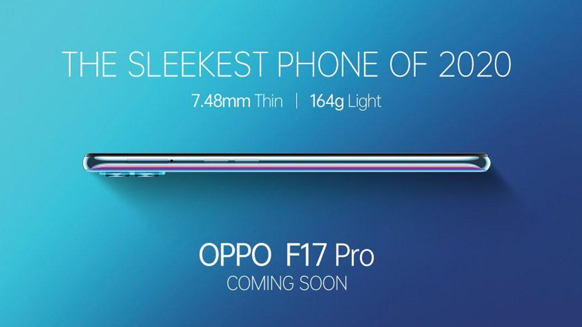 Oppo F17 Pro Sleekest Smartphone