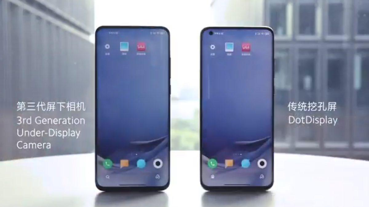 Xiaomi Under Display Camera Technology
