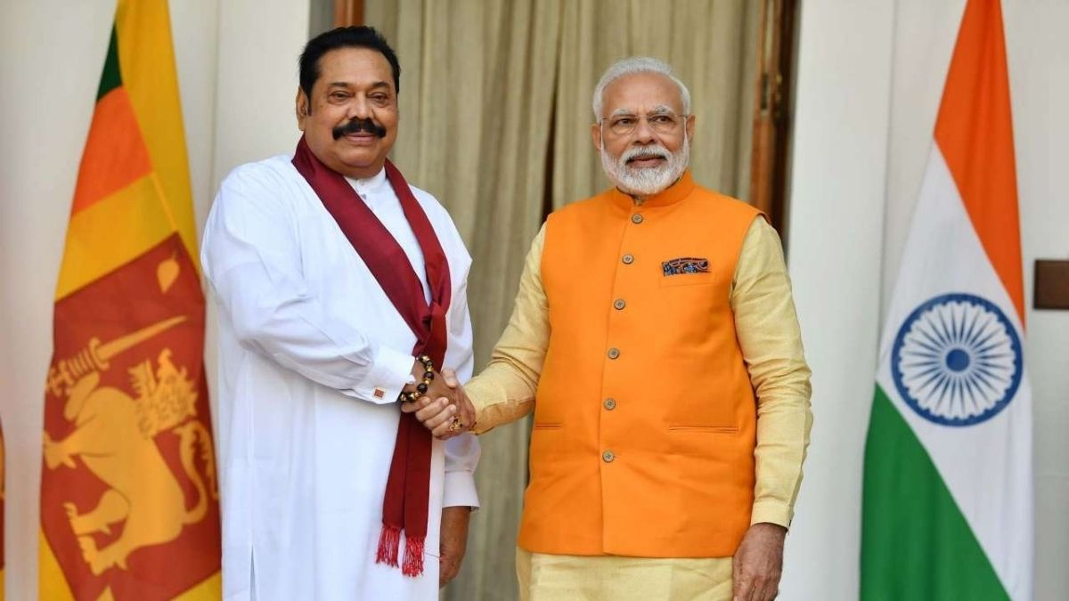 PM Modi And PM Mahinda Rajapaksa