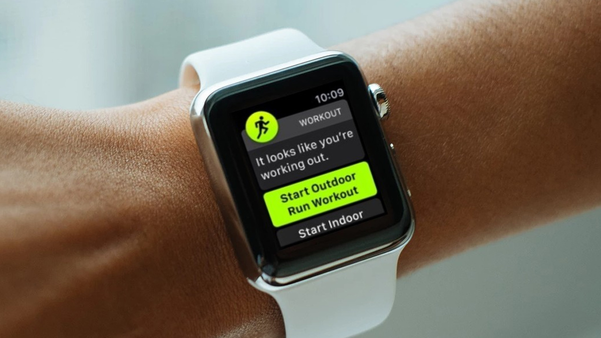 A User Wearing Apple Watch