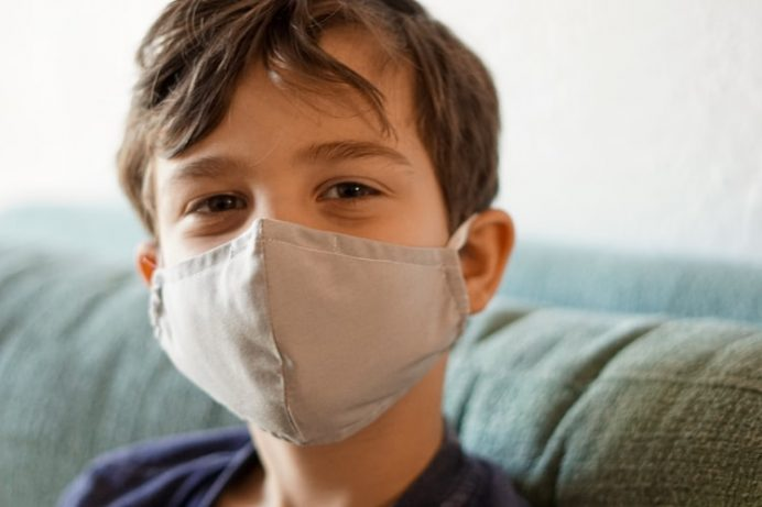 Boy With Coronavirus Mask