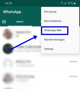 WhatsApp Chat Web Option