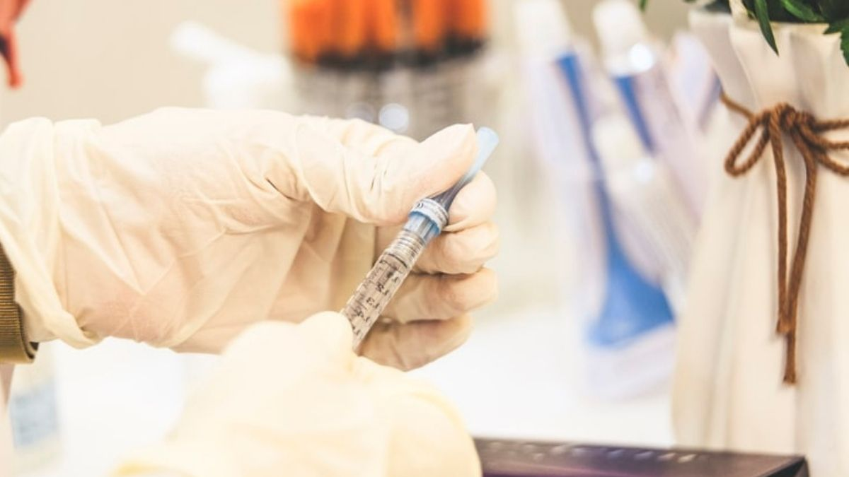 Injection In Hands Of Scientists