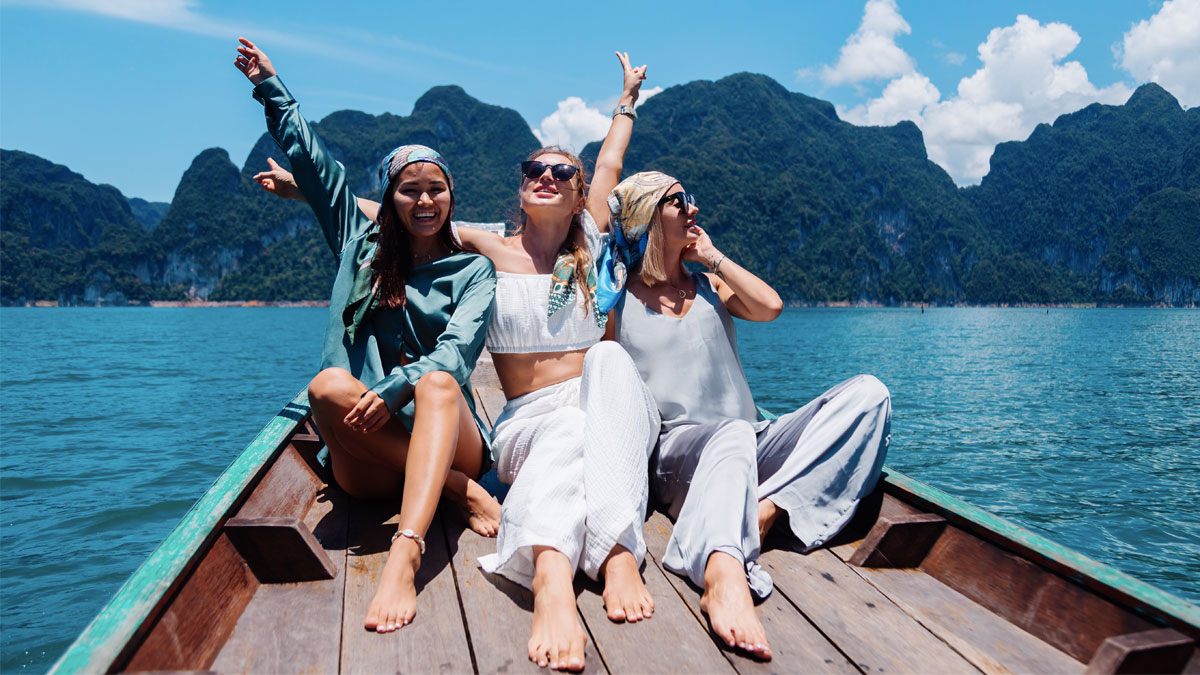 Women Traveler Enjoying Vacation