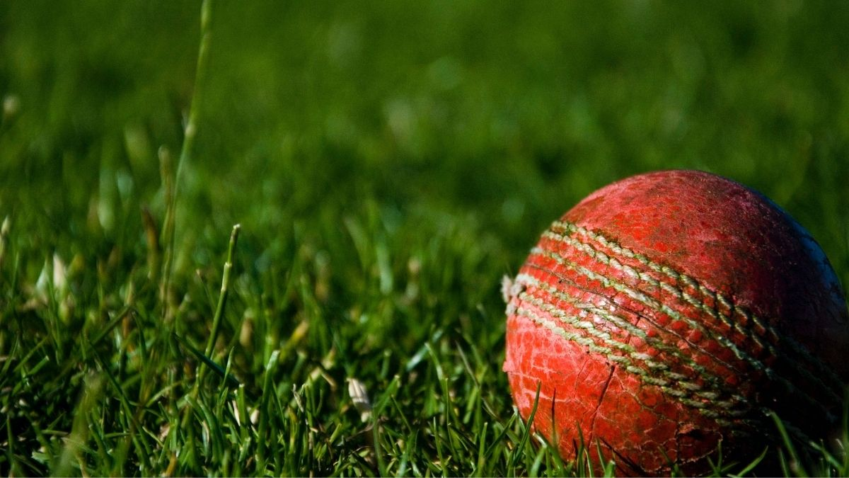 A Photograph Of A Cricket Ball