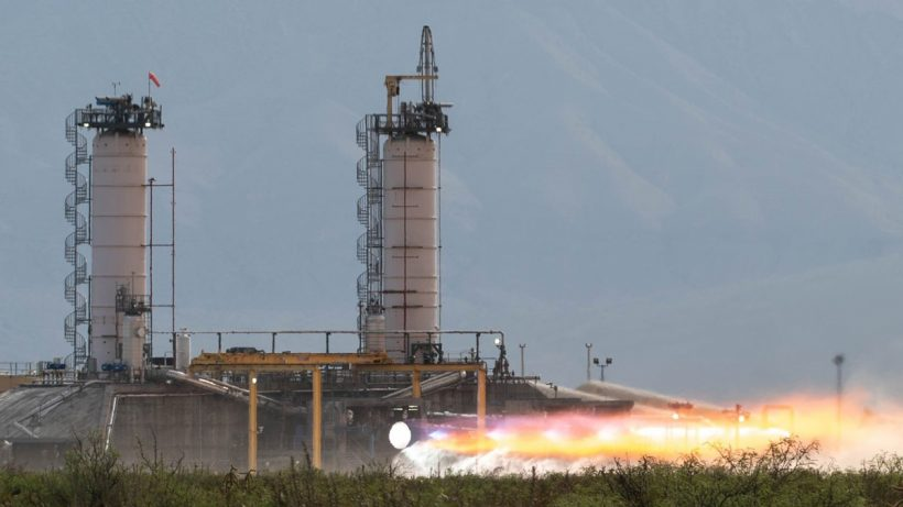 Blue Origin Rocket Test