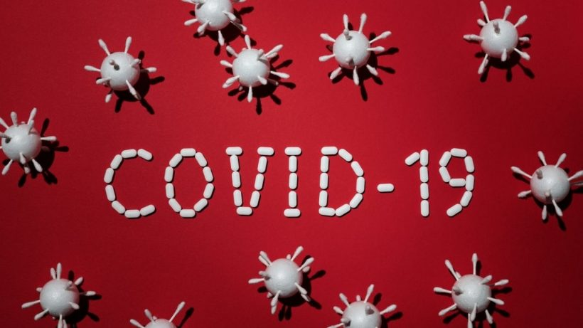 COVID-19 Virus Red BG