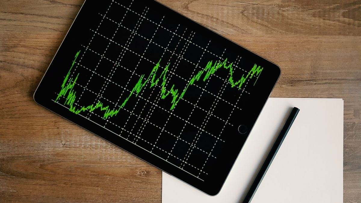 Stock Market Graph On Tablet