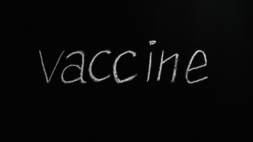 Vaccine Text Written With Chalk