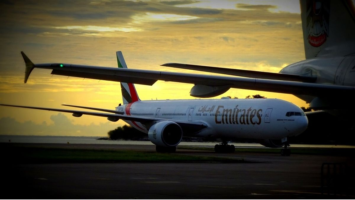 Emirates flight to India