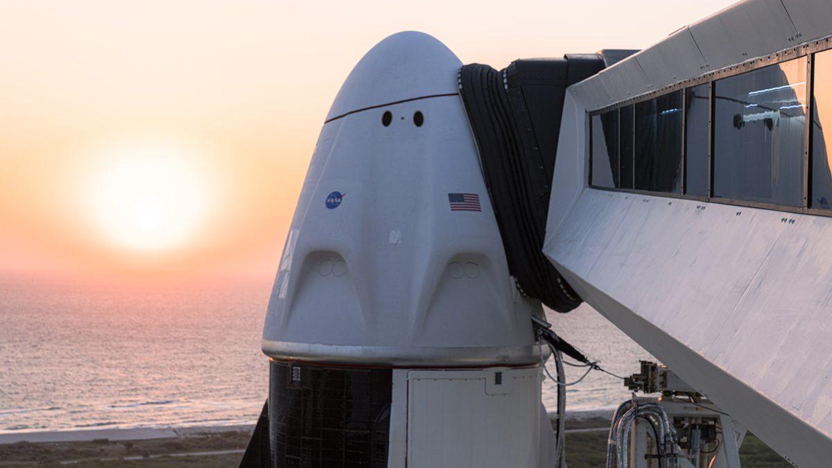 Falcon 9 Carrying Astronauts