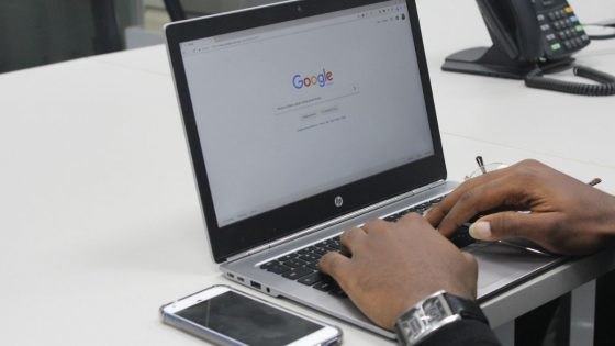 A User Using Alphabet's Google Search Engine