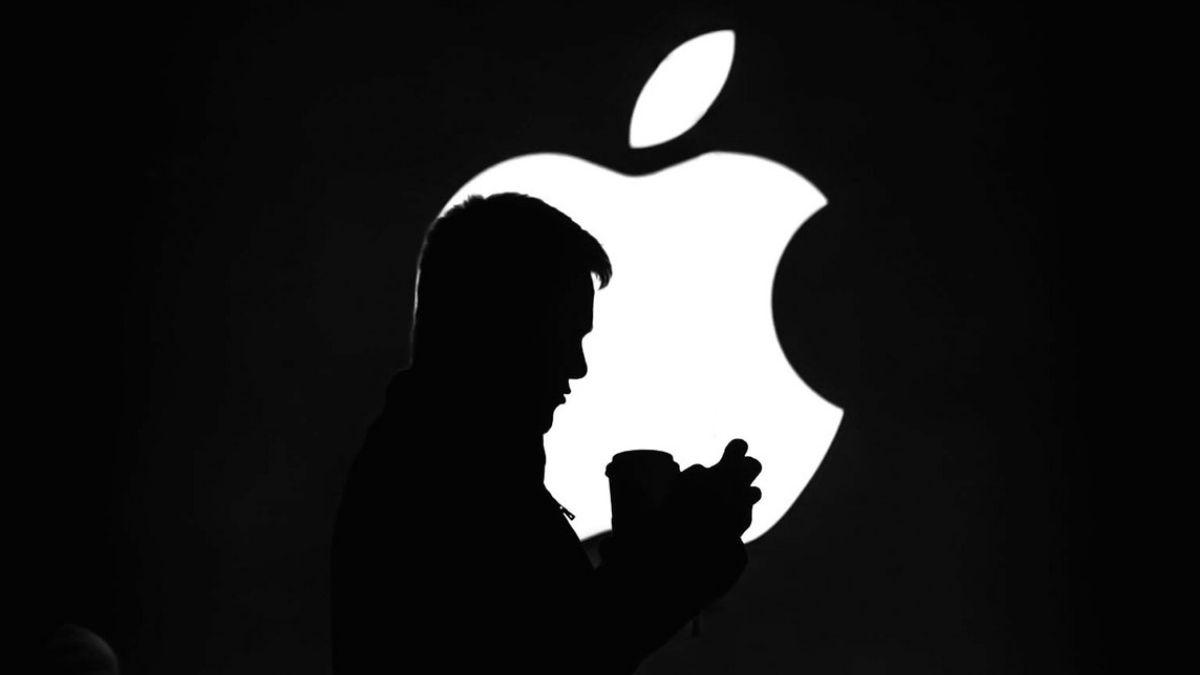Black White Apple Logo