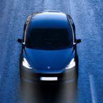 Tesla Car On Road