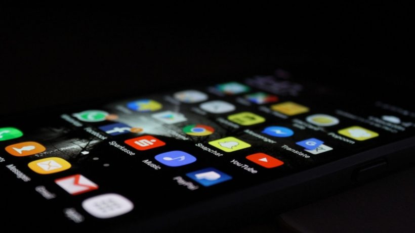 Mobile Applications On Screen