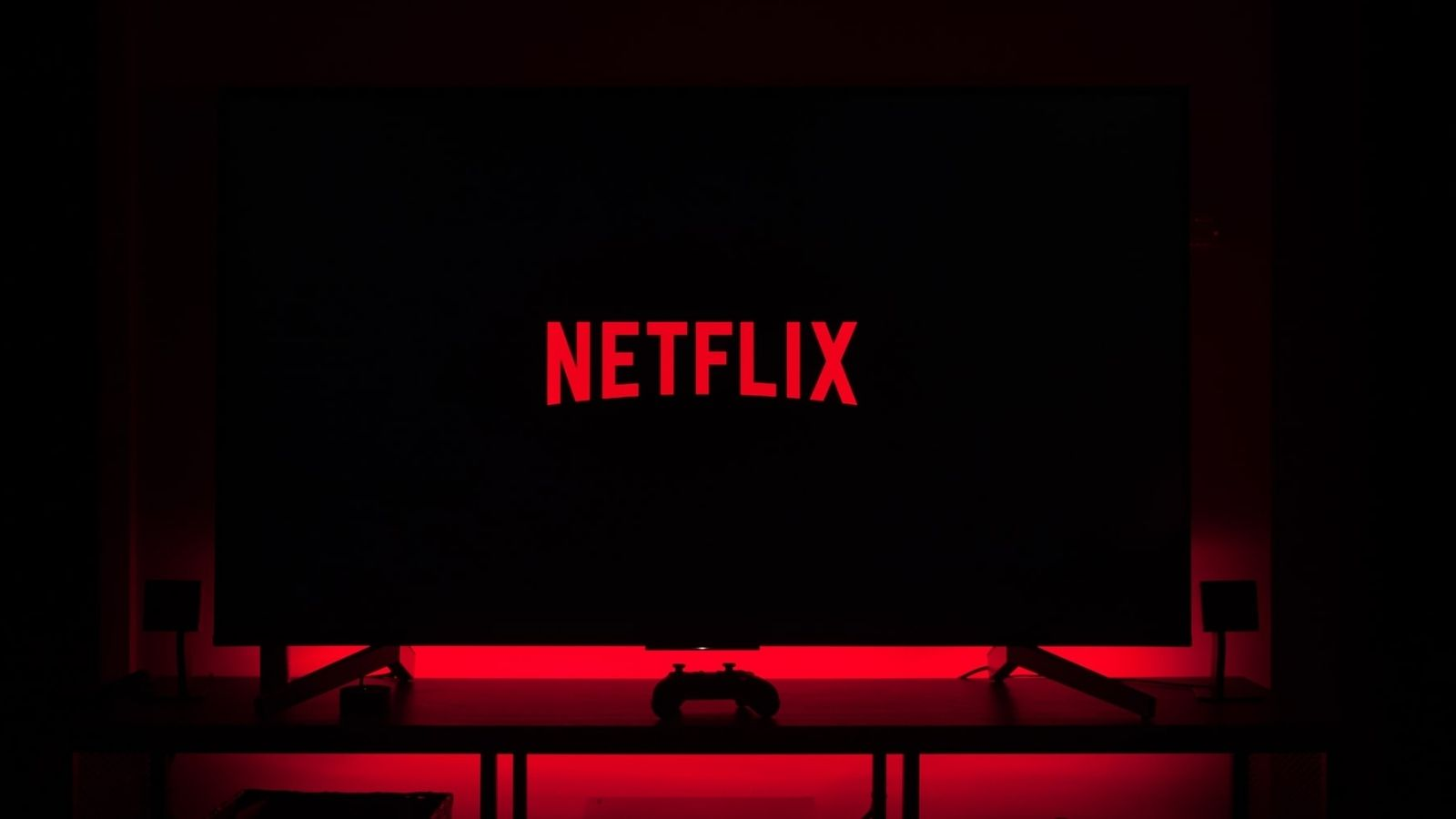 Netflix In Black And Red Light