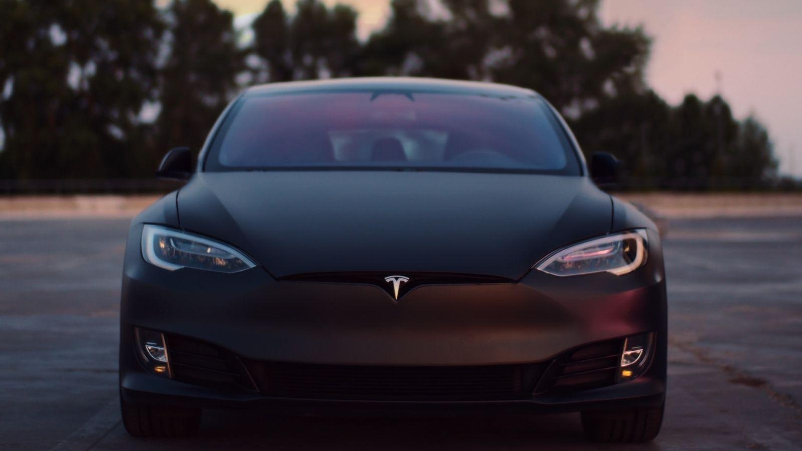 Tesla Model S Car Black