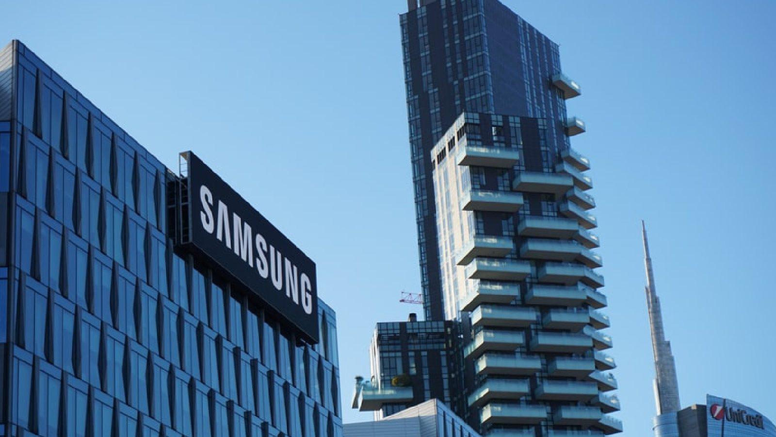 Samsung Logo on building