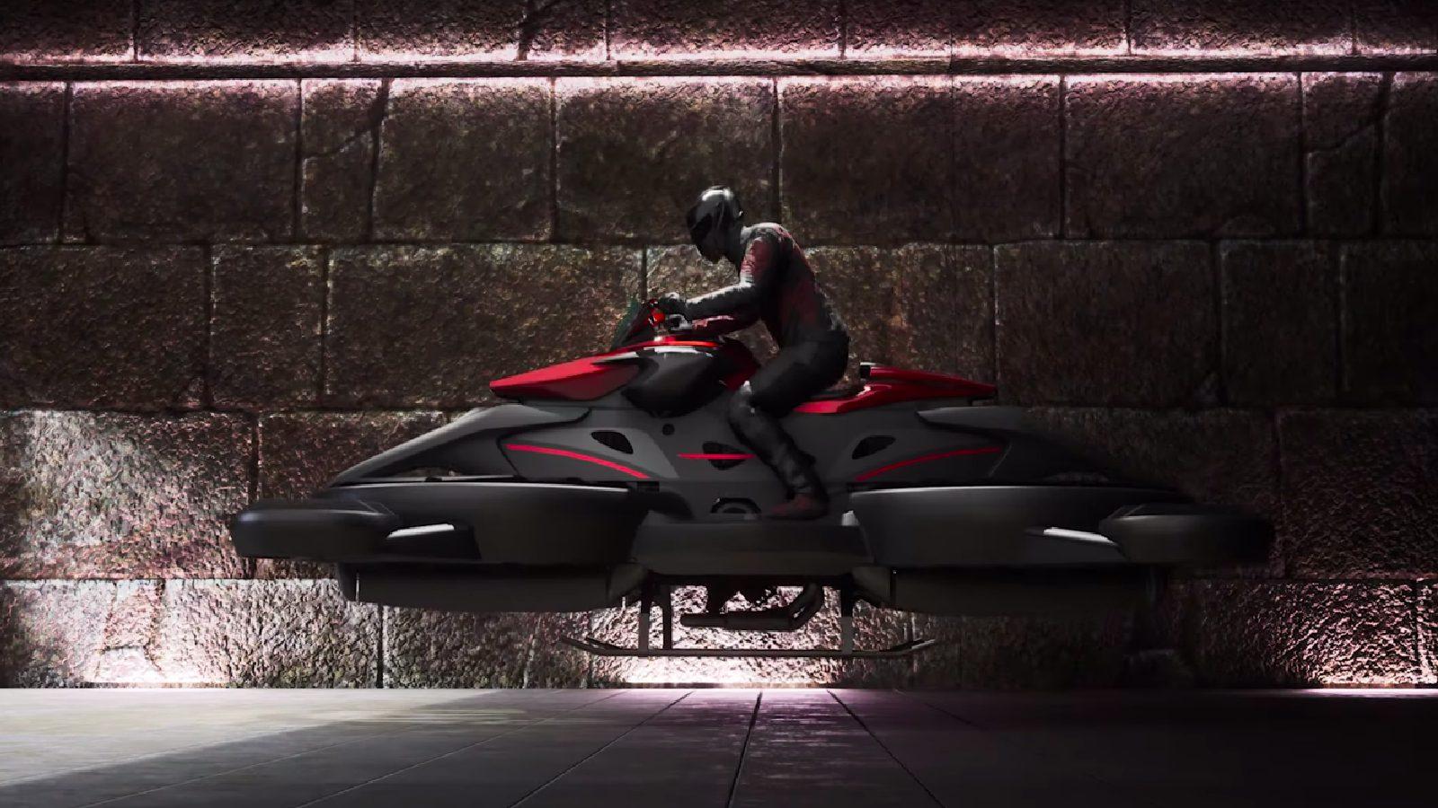 Japanese flying motorcycle