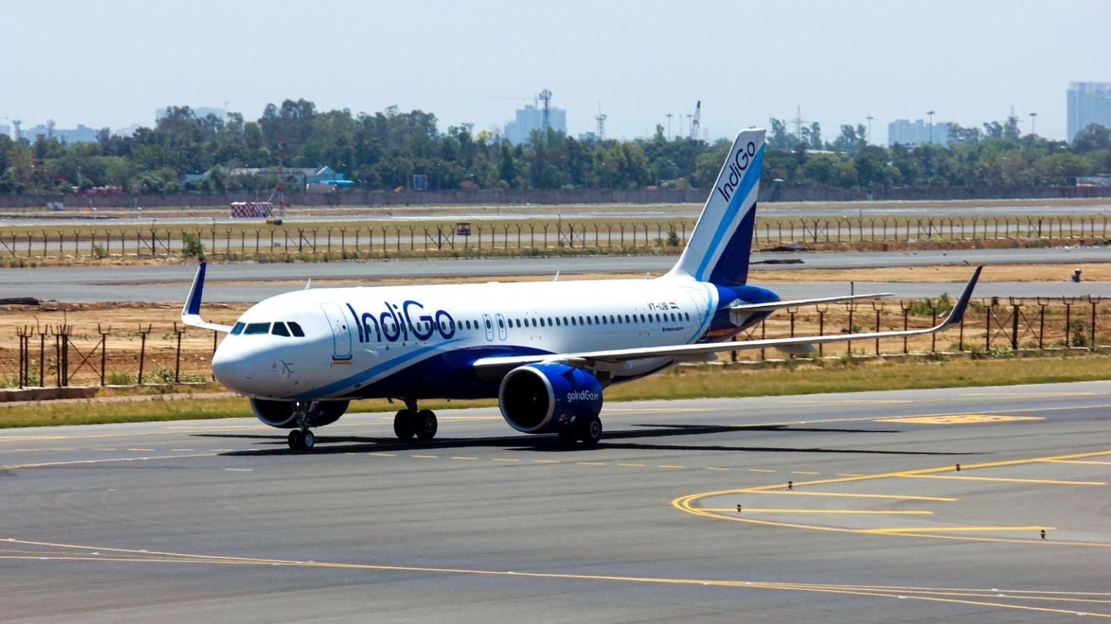 Indigo Airplane On Runway