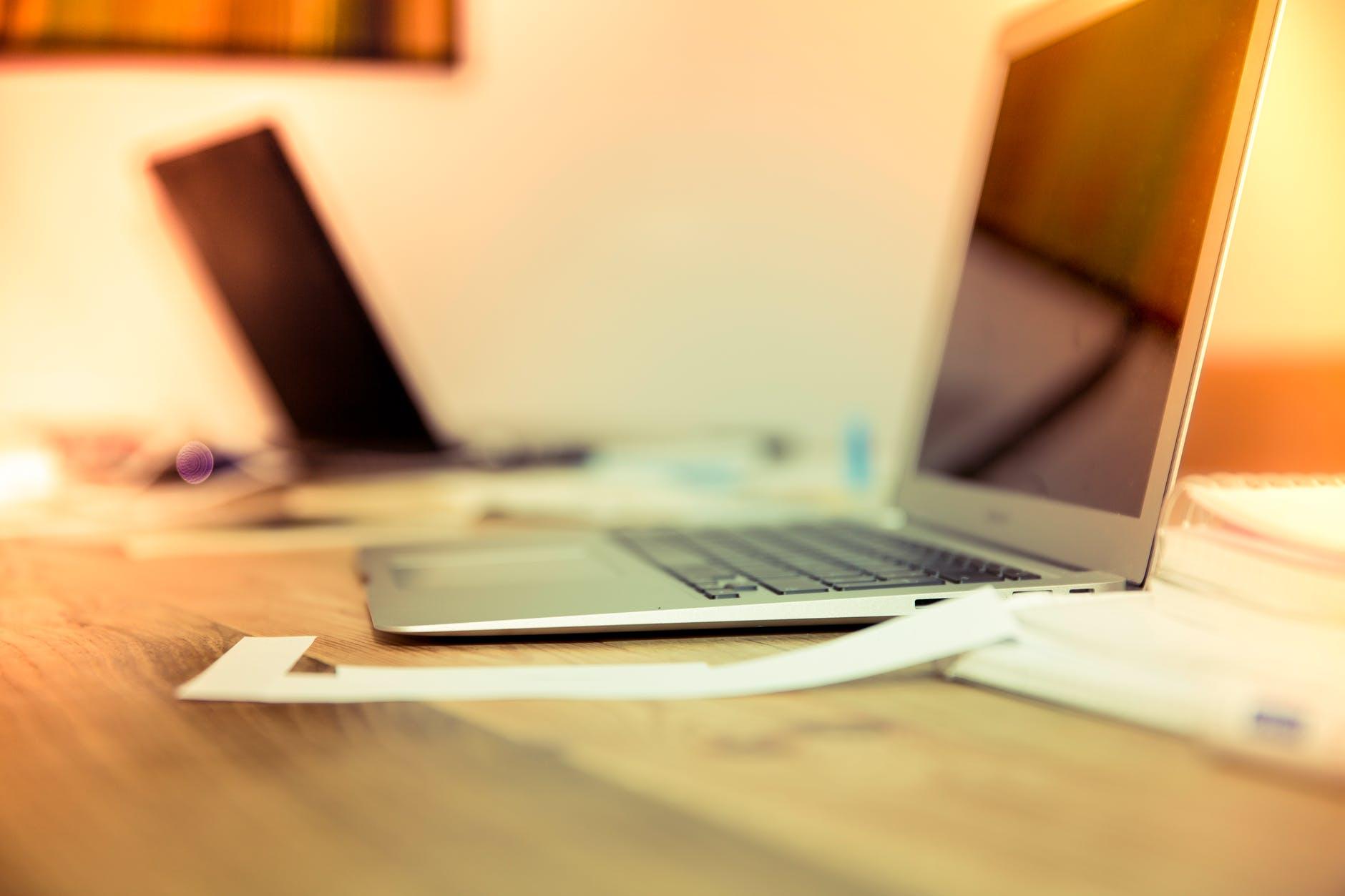 creative desk laptop notebook