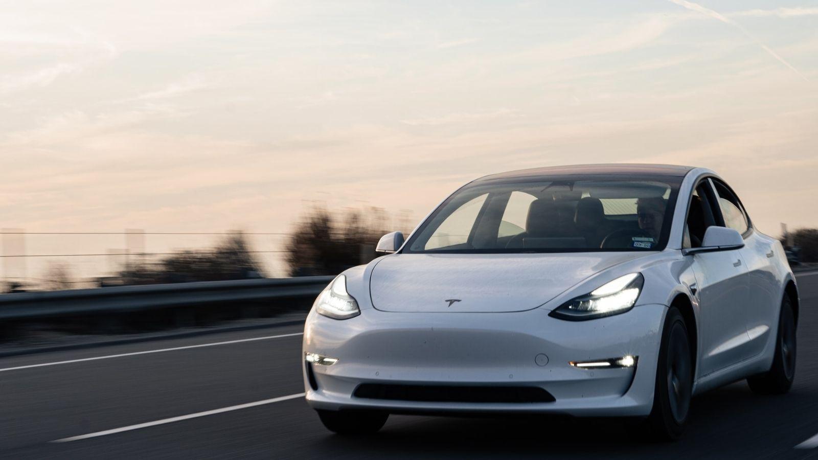 Tesla Car White Color