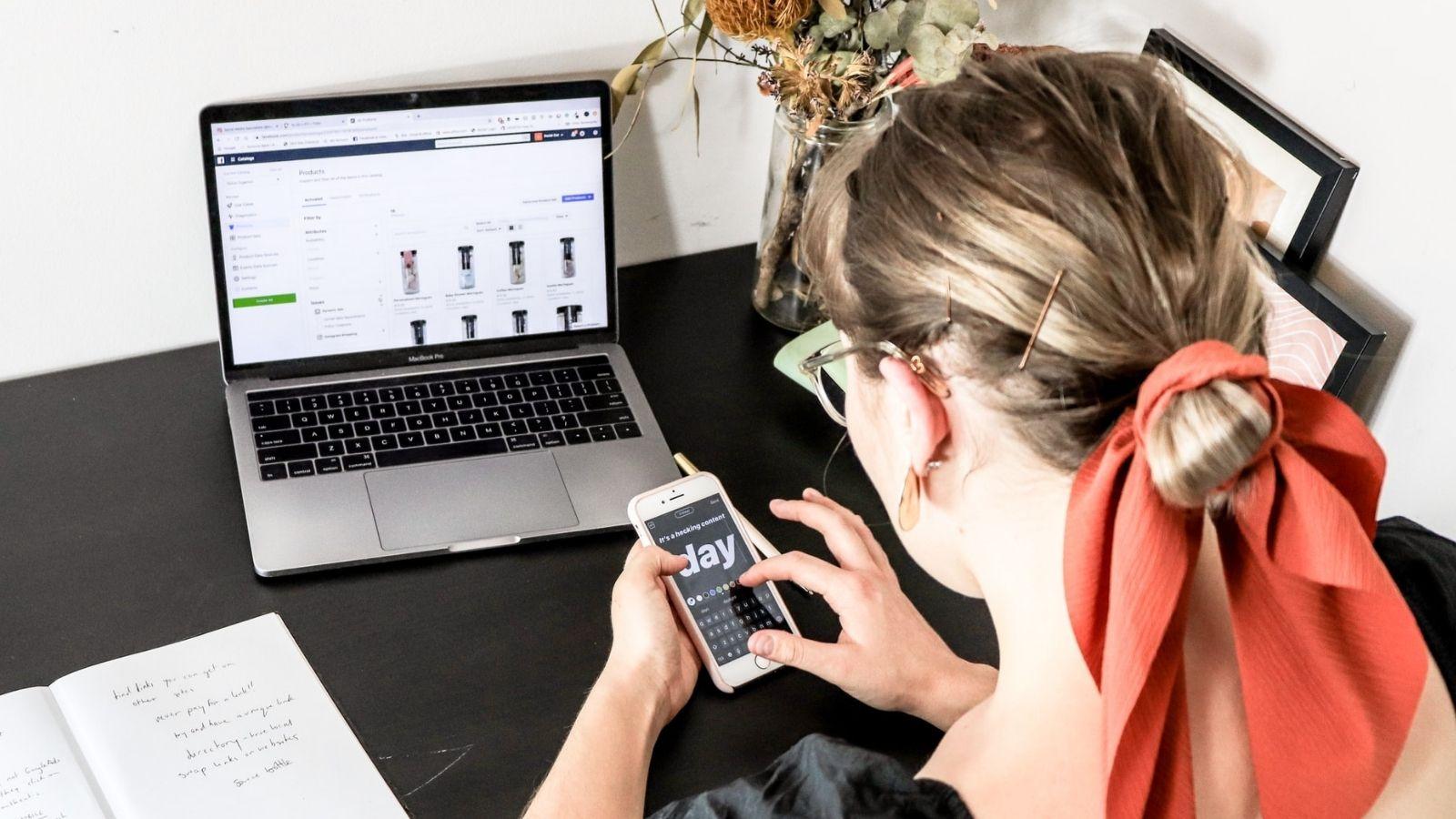 Woman Browsing eCom Platform